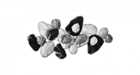 კედლის დეკორაცია B&W Leaves