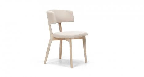 სკამი ხის, ნაჭრის ზედაპირით, PUB