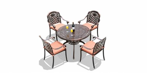 მაგიდა ჭედური, მრგვალი