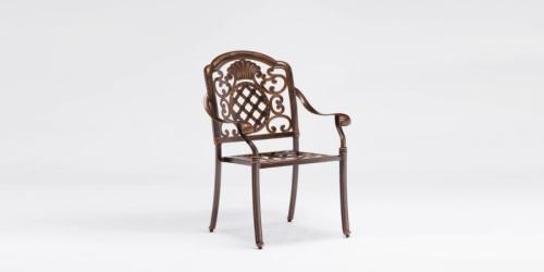 სკამი ჭედური, სახელურით