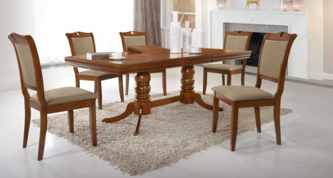 მაგიდა ხის, გასაშლელი, მართკუთხედი
