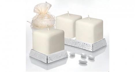 სასანთლე სანთლით SQUARE