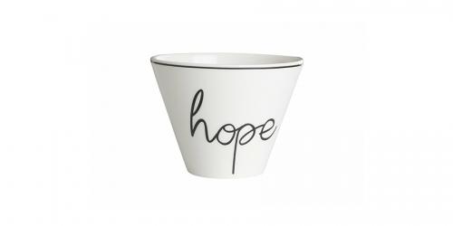 ფაიფურის თასი HOPE, 6 ცალი
