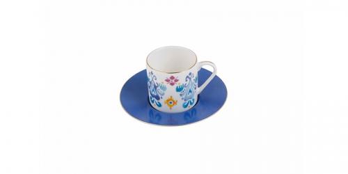 ფაიფურის ყავის ფინჯანი და ლამბაქი, სეტი 6ც., POSH