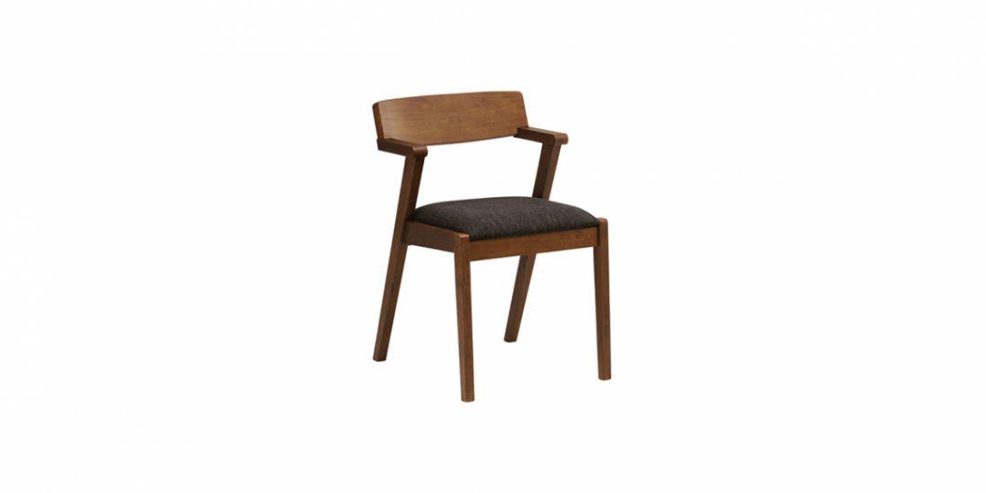 სკამი ხის, ნაჭრის ზედაპირით, ZOLA